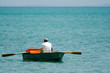 Man row dinghy