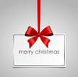 Schild Schleife merry christmas