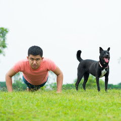 Fitness with dog
