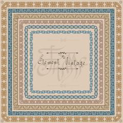 vintage square frame pattern