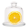 Lemon in a glass dome