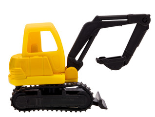 Toy yellow excavator