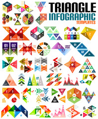Huge geometric shape infographic template set
