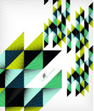 Colorful geometric shape triangle background