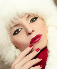 Зимний макияж.