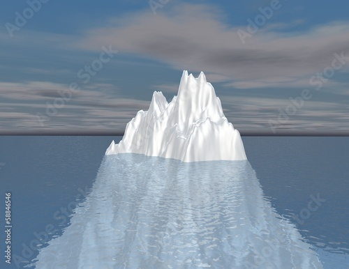 iceberg illustration intuition, hided opportunity concept