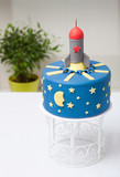 children's cake rocket the blue