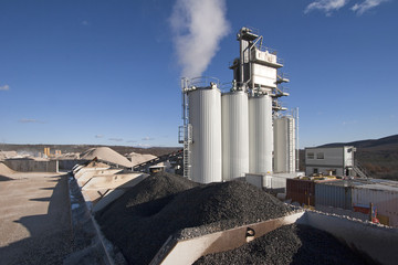 Factory for asphalt production near town Split in Croatia