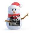 Santa snowman makes a Christmas movie