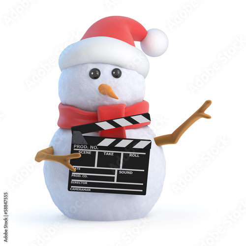 Santa snowman makes a Christmas movie
