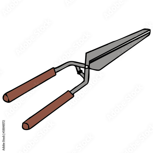 secateurs vector drawing