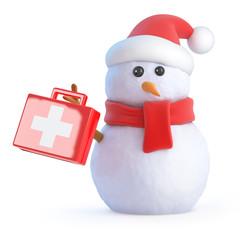Santa snowman medic