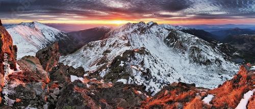 Slovakia Tatras - Winter mountain panorama