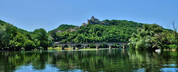 France, picturesque castle of Castelnaud in Dordogne