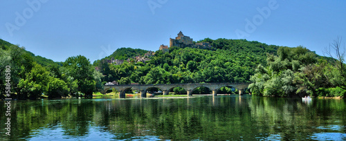 France, picturesque castle of Castelnaud in Dordogne
