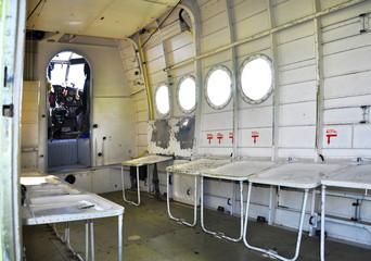 Interior of biplane