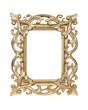 Gold carved picture frame isolated owith clipping path.