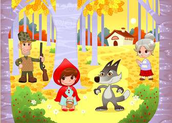 Little Red Hiding Hood scene