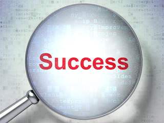 Business concept: Success with optical glass