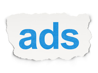 Marketing concept: Ads on Paper background