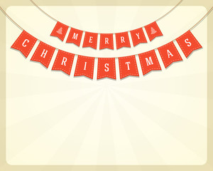 Merry Christmas message and banner vector background
