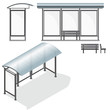 Bus Stop. Empty Design Template for Branding - 58851124