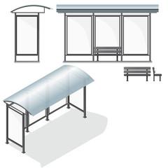 Bus Stop. Empty Design Template for Branding