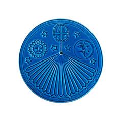 blue sundial on white