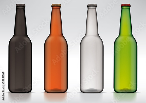 blank glass beer bottle for new design