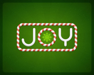 Merry Christmas Joy postcard vector background