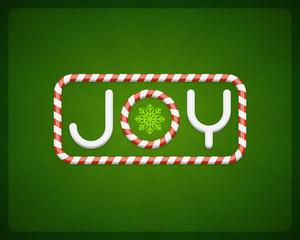 Merry Christmas Joy postcard vector background