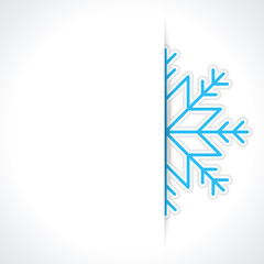 Snowflake Christmas card vector background