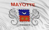 3D flag of Mayotte