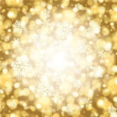 Christmas light vector background with snowflakes