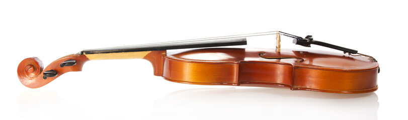 Beautiful wooden violin