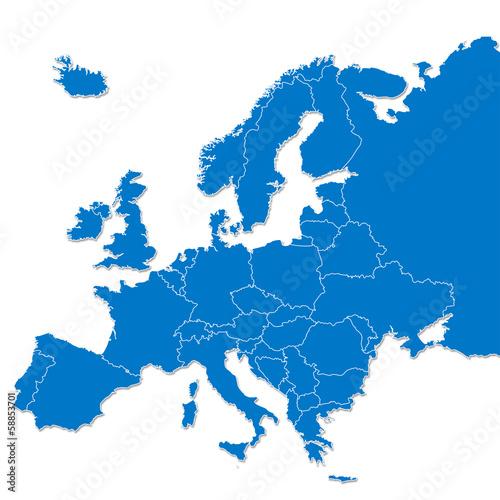 Europe map - 58853701