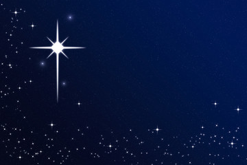 Wishing on a Starry Christmas Night Sky Star