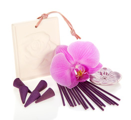 Aromatic cones and sticks, flower the orchids