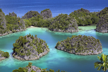 Exotic tropical islands Raja Ampat archipelago, West Papua