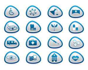 Abstract medical web icons