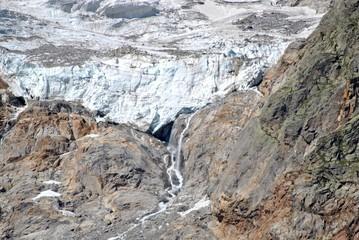 Rocky mountain glaciers - Monte Rosa, Italy.