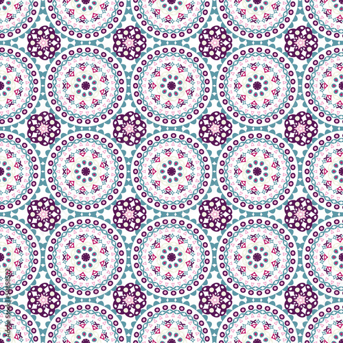 Abstract vector seamless pattern background with circles
