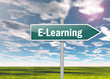"Signpost ""E-Learning"""