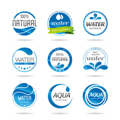 Water design elements & icon - Illustration
