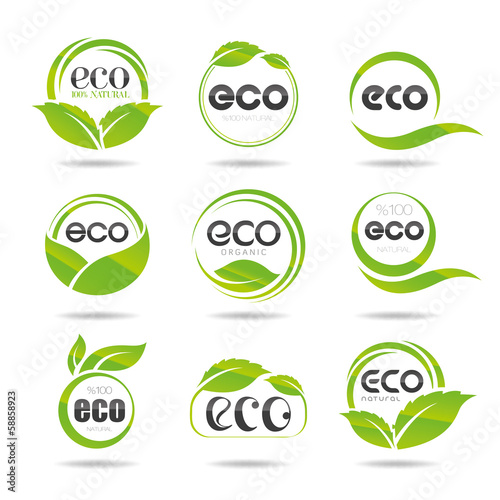 Ecology icon set. Eco-icons
