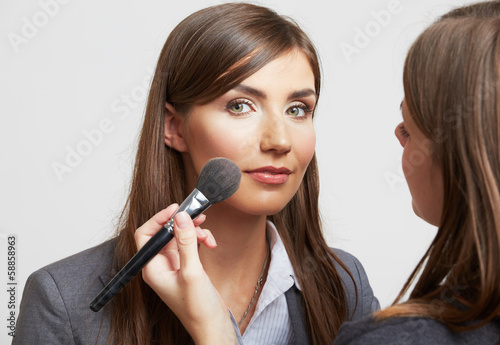 Portrait of smiling business woman, make up