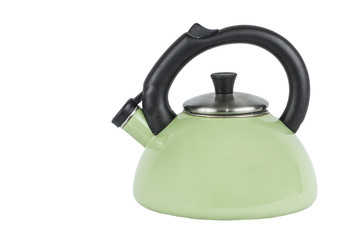 Green Tea Pot Kettle Isolated