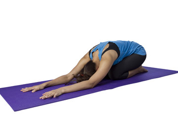 asian woman doing yoga
