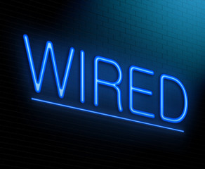Wired concept.
