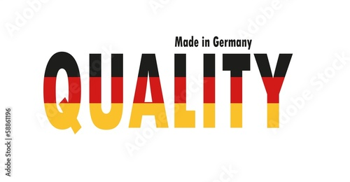 Quality made in Germany - Vektor